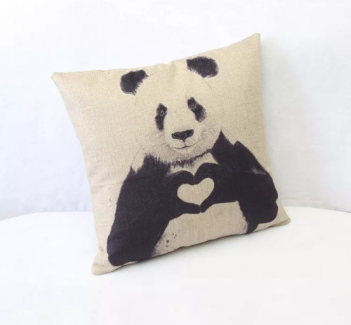 All you need is Love super soft Panda Cushion